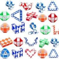 DHL 미니 마법 큐브 인텔리전스 장난감 뱀 모양 장난감 게임 3D 큐브 퍼즐 트위스트 퍼즐 선물 임의 지능 슈퍼 탑 선물