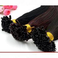 "XCsunny 18 ""20"" 100g u Spitze Haarverlängerungen Human 1g S indische 100% indische jungfrau Menschenhaar Keratin Fusion Haarverlängerungen"