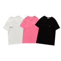 Männer und Frauen T-shirts Klassischer Luxus-Vorderseite Rückseite Dreidimensionale Reflektierende Buchstaben Kurzarm Hochwertige Paar Wildlimit-Oberteil