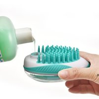 Cat Grooming bath brush for pet massage brushes removes loose hair comb shower scrubber 2 in 1 shampoo dispenser pets tools EWA7248