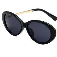 Lady Pearl Vintage Sunglasses de sol de alta calidad Sunares de lujo Marco de metal Mujeres Oval Mujeres Hermosas gafas 5 Color