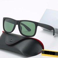고품질 선글라스 럭셔리 디자이너 라운드 안경 파일럿 패션 미러 브랜드 이송 남자 여자 여자 빈티지 선글라스 상자 및 케이스