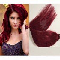 Großhandel # 99J Tape Haarverlängerungen Unverarbeitete brasilianische menschliche Haare Haut Weft 99J Tape Menschliche Haarverlängerung