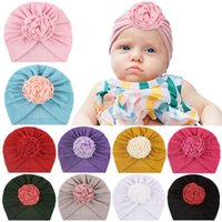 Caps & Hats Hat Toddler Kids Baby Boy Girl Solid Floral Knotted Headband Headwear Accessories Born Children's Cap