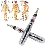 Acupuntura electrónica Pen Massager Meridianes eléctricos Terapia con láser Heal Massage Meridian Energy Bolígrafos Relieve Herramientas de dolor