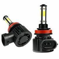 [미국 영역 전용] 2PCS H11 H8 H9 LED 헤드 라이트 전구 키트 6000K 화이트 슈퍼 밝은 2000W 로우 빔
