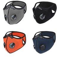 Máscara de esportes à prova de poeira de bicicleta Ativado Ciclismo de Carbono Correndo Capa de Face Anti-Poluição Máscaras de Treinamento Ao Ar Livre com Filtro 1737 T2