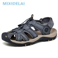 Sandals Men Shoes Genuine Leather Summer Causal Beach Man Fashion Outdoor Casual Sneakers Size 38-48