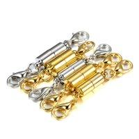 Componenti del filo cordone Gioielli5pcs / lot Aragosta Clip in metallo Connettori magnetici in metallo per bracciali in pelle fai da te collana gioielli per gioielli
