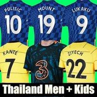 Tailândia Chelsea 21 22 LUKAKU WERNER HAVERTZ CHILWELL ZIYECH Camisas de futebol 2020 2021 2022 PULISIC Football Shirt KANTE MOUNT 4th Men Conjunto infantil tops