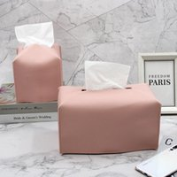 Tissue Boxes & Napkins 1pcs Portable Box Cover PU Leather Square Napkin Holder Container Easy-carry Cleaning Cases Organizer For Bathroom