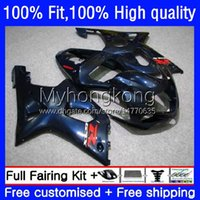 Carnies de molde de inyección para Suzuki GSX-R1000 GSXR1000 K2 00-02 Bodywork Dark Blue Hot 24NO.30 GSXR 1000 CC 1000CC 00 01 02 GSXR-1000 2000 2001 2002 Motorcycle OEM Bodys