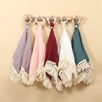 Baby Pacifier Burp Clothes Muslin Cotton Blanket with Fringe and Wooden Animal Teether Soft Saliva Towel Dummy Holder Clip
