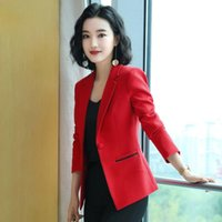 Women's Suits & Blazers Fashion Autumn Spring Women Solid Color Blazer Jackets Work Office Lady Suit Slim Business Female Coats Casual