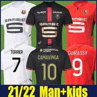 Stade Rennais Camavinga футбол футбол 120 юбилейной рубашки доку Терьер Guirassy футбол Джерси мужчины дети Maillot Nzonzi Truffert Mauassa Bourigeaud 2021/22