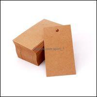 Etiquetas de precios, Joyas de tarjetas Mostrar joyería5 * 9cm 100pcs / lot Stud Ear / Dgley Pendring Tarjetas Kraft / Blanco / Negro Papel Cartón de la cartulina