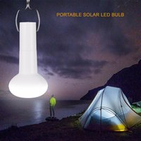 Solar Lamps Portable Powered Led Bulb Light Outdoor Energy Lamp Lighting For Hiking Fishing Camping Tent White