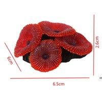 الحوض الاصطناعي خزان الأسماك الديكور المرجان البحر مصنع حلية سيليكون غير سامة الأحمر DHE7462