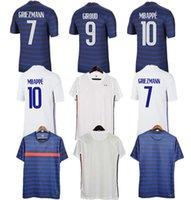 2021 France Home Away Jerseys de futebol Mbappe Griezmann Pogba Giroud Kante Jersey Camisas de futebol Adulto Men + Kids Kit