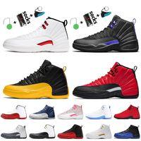 2021 Nike air jordan 12 12s jordan retro أحذية كرة السلة الرجالية تويست Dark Concord University Gold Reverse Flu لعبة Arctic Punch Pink Women Sneakers Trainersمع مربع