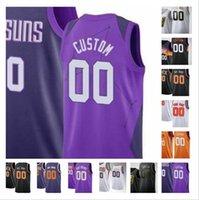 Impreso Custom Deandre 22 Ayton 3 Kelly Oobre Jr 20 Jackson Devin 1 Booker Basketball 25 Mikal Bridges Ricky 11 Rubio Jerseys