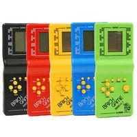Plastique Tetris Had Had Key Player LCD Jeu électronique Jouets Jouets Pocket Console Console Classique Enfance pour cadeau Jeux de poche Encouragez Touch et Explorer