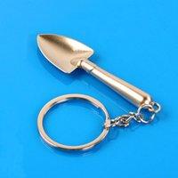 Llaveros creativos mini herramienta llavero llavero multifunción decoración colgante pala de metal regalo