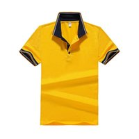 Brand Men' s Shirt Solid Slim Polos Summer Short Sleeve ...