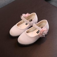 Flat Shoes Baby Girls Kids Floral Pearl Princess Fashion Dance Party Cute Comfortable Spring Autumn Child Toddler G260