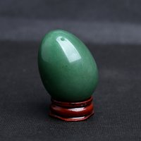 Grüne Aventurin-Kristalleier mit Seil Yoni Egg Massage Handball Massagerkugel für Übungskugel Gesundheitswesen Massage-Tool