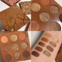 Göz Farı 9 Renkler Zengin Sıcak Çikolata Vahşi Çocuk Göz Farı Paleti Kahverengi Makyaj Mat Glitter Pırıltılı Çıplak Pi P7O8