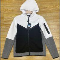 Avrupa Amerikan Tarzı Spor erkek Hoodies Ceket Teknoloji Polar Rahat Örme Ceketler Tam Boy Fermuar Hırka CU44925