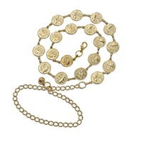 Vintage Belts Women Female Coin Waist Chain Belly Beach Dancing Waistband Party Top Quality Pendant Solid Colours Belt