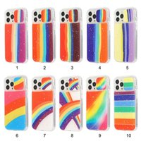 Luxury Gradient 3 in 1 Glitter Bing Airbag Shockproof Phone Cases Crystal Heavy Duty Armor TPU PC Cover For iPhone 13 Pro Max 12 Mini 11 X XS XR 8 7 Plus Case