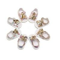أول مشوا الاطفال أحذية طفل الفتيات الأحذية الأطفال تاسو الصنادل الطفل B5772