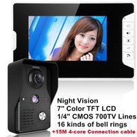 """""""LCD Video Door Phone Intercom Doorbell Home Security IR Camera Monitor With Night Vision Videoportero+15M Cable Phones"""
