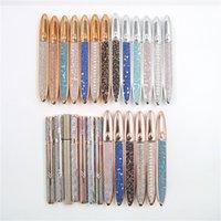 Eyeliner autoadesivo2 in 1 diamante bling glitter eyeliner liquido non è necessario il trucco della matita della fodera dell'occhio della colla