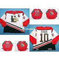 Personnaliser Personnaliser QMJHL Halifax Mooseheads Mens pour femmes 10 doyen Stock 22 Nathan Mackinnon Hockey pas cher Jerseys blanc Jerseys rouge