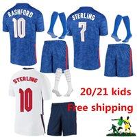 1top Thailandia Qualità Thai England Soccer Jersey 2021 Kane Sterling Rashford Mount Lingard Vardy Delecy 21 22 Camicia da calcio nazionale Adulto Imposta calze Uniforme