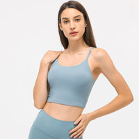 Yoga Outfit Open Back Womens Padded Sports Bra Gym Crop Top Workout Tops Tank Shirt Vest Fitness Apparel Tee Sport