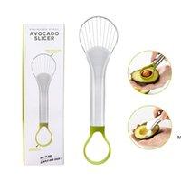 Abacate Slicer e Pitter Fruit Cutter Ferramenta de ralas 2 em 1 aço inoxidável Removedor de núcleo Acessórios de cozinha DHE5712