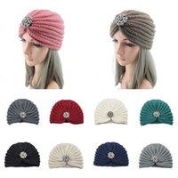 Winter Women Fashion Boho Beanies Accessories Wool Warm Knitted Hat Bag Head Cap Silver Ball Jewelry Hood Muslim Turban