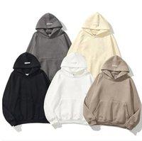 2021 Paura di Dio Nebbia Essentials Half-Zip Stand Collare Felpe Felpe Uomo Donna Felpa con cappuccio Essenziale Pullover Crewneck Streetwear D01V #