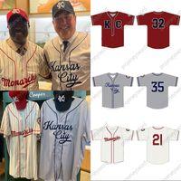 Kansas City Monarchs 2021 Главная Джерси 100% Вышитые вышивки Урожай бейсбол майки пользовательские Любое имя Любое количество Быстрая доставка