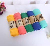 Süßigkeiten Farbschals Frau Schal Ethnische 19 Farben Frühling Sommer Mode Solide Dame Wraps Sonnenschutz Baumwolle und Leinen GWC7076