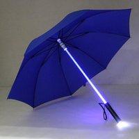 DHL Cool Blade Runner Light Saber LED Flash Light Umbrella rose umbrella bottle umbrella Flashlight Night Walkers