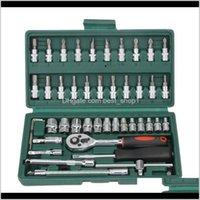 Cacciaviti 46PCS Spanner 14 cacciavite azionamento a cricchetto auto riparazione moto toolkit chiave con chiavetta set meccanico domestico fai da te xaiz3 xstgb