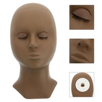 False Eyelashes Practice Head Mannequin Model With 2 Eyelids For Extension Training