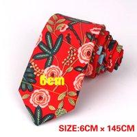 Neck Ties Floral Tie For Men Women Skinny Cotton Wedding Casual Mens Neckties Classic Suits Flower Print Cravat