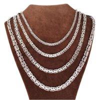 Sterling Silber handgemachte byzantinische flache Kette Halskette Schmuck für Mann und Frauen Spezielle Geschenkketten